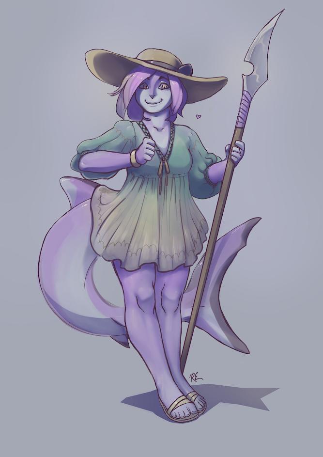 Shark-girl_by-rocospade