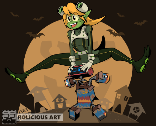 Cora and Blip by Rolicious